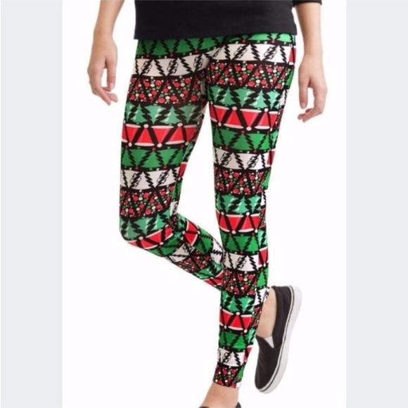 5cb00f9a54bd73 Nobo Pants | Nwt Womens Seamless Christmas Tree Leggings Sz L | Poshmark